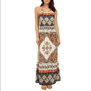 Boho Roxy summer fleet maxi dress